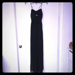 Black strapy maxi dress with cut outs